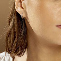 Créoles Diane Carrées Helicoidales Argent Blanc - Boucles d'oreilles Créoles Femme | Marc Orian