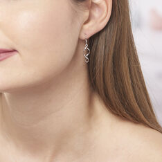 Boucles D'oreilles Pendantes Louison Argent Blanc - Boucles d'oreilles Pendantes Femme | Marc Orian