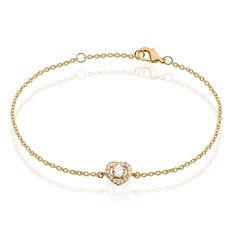 Bracelet Alais Plaque Or Cœur Oxydes - Bracelets chaînes Femme | Marc Orian