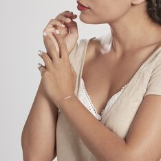 Bracelet Rayan Argent Blanc Oxyde De Zirconium - Bracelets chaînes Femme | Marc Orian