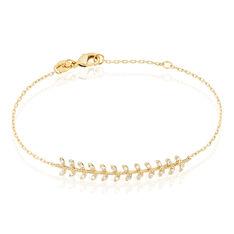 Bracelet Fabrizia Plaque Or Jaune Oxyde De Zirconium - Bracelets chaînes Femme | Marc Orian