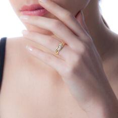 Bague Nolan Or Jaune Diamant - Bagues fiançailles Femme   Marc Orian
