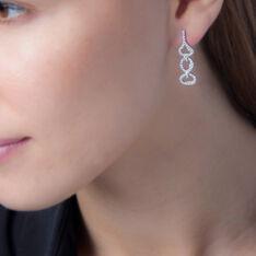 Boucles D'oreilles Pendantes Adysonae Argent Blanc Oxyde De Zirconium - Boucles d'oreilles Pendantes Femme | Marc Orian