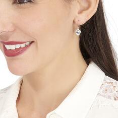 Boucles D'oreilles Pendantes Rosaline Or Jaune Topaze Et Oxyde - Boucles d'oreilles Pendantes Femme | Marc Orian