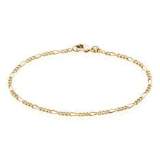 Bracelet Clency Maille Alternée 1/3 Plaque Or Jaune - Bracelets fantaisie Femme | Marc Orian