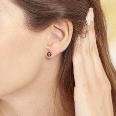 Boucles D'oreilles Puces Or Jaune Perle - Clous d'oreilles Femme   Marc Orian