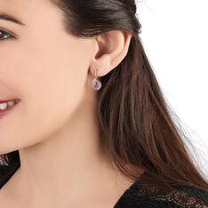 Boucles D'oreilles Pendantes Or Rose Saphir Et Diamant - Boucles d'oreilles Pendantes Femme | Marc Orian