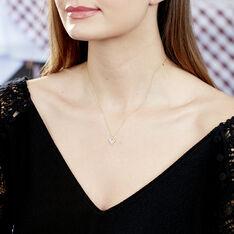 Collier Rosaline Or Jaune Topaze Et Oxyde De Zirconium - Colliers Femme   Marc Orian