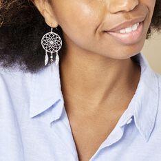 Boucles D'oreilles Pendantes Misalie Argent Blanc - Boucles d'oreilles Pendantes Femme | Marc Orian