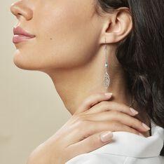 Boucles D'oreilles Pendantes Grethel Argent Blanc Turquoise - Boucles d'oreilles Pendantes Femme | Marc Orian