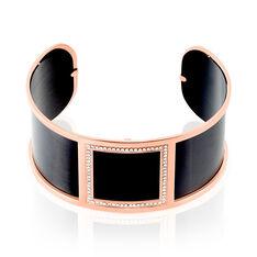 Bracelet Jonc Acier Rose Strass - Bracelets jonc Femme | Marc Orian