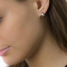 Créoles Casilda Acier Blanc - Boucles d'oreilles Créoles Femme | Marc Orian