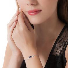 Bracelet Oceania Or Blanc Saphir Et Diamant - Bracelets chaînes Femme | Marc Orian