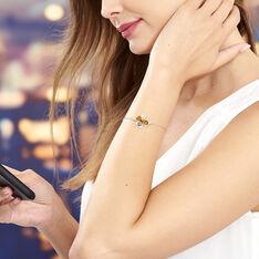 Bracelet Oviya Argent Blanc Ambre - Bracelets chaînes Femme | Marc Orian