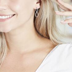 Boucles D'oreilles Pendantes Adjara Argent Blanc Oxyde De Zirconium - Boucles d'oreilles Pendantes Femme | Marc Orian
