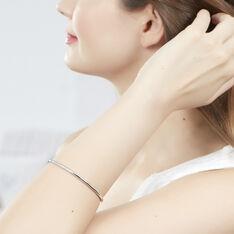 Bracelet Jonc Tabata Argent Blanc - Bracelets fantaisie Femme | Marc Orian