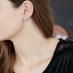Boucles D'oreilles  Lilia Or Blanc  - Clous d'oreilles Femme | Marc Orian