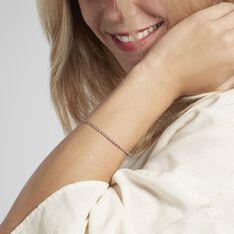 Bracelet Jonc Twist Argent Blanc - Bracelets fantaisie Femme   Marc Orian