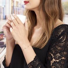 Bracelet Plaque Or Assmae Maille Fantaisie - Bracelets chaînes Femme | Marc Orian