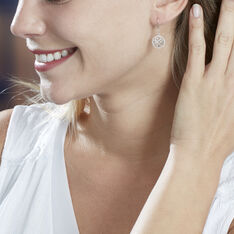 Boucles D'oreilles Pendantes Aarona Or Blanc Diamant - Boucles d'oreilles Pendantes Femme   Marc Orian