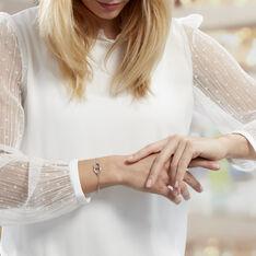 Bracelet Abdon Argent Blanc - Bracelets chaînes Femme | Marc Orian