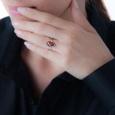 Bague Leeloo Argent Blanc Ambre - Bague fantaisie Femme | Marc Orian