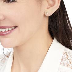 Boucles D'oreilles Puces Fatiana Or Jaune Diamant - Clous d'oreilles Femme   Marc Orian