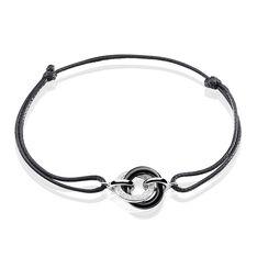 Bracelet You&me Argent Blanc Céramique Et Oxyde De Zirconium - Bracelets cordons Femme | Marc Orian