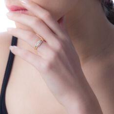Bague Comete Or Jaune Oxyde De Zirconium - Bagues fiançailles Femme | Marc Orian