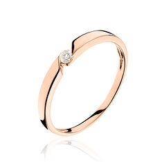 Bague Solitaire Anilie Or Rose Diamant - Bagues Solitaire Femme   Marc Orian