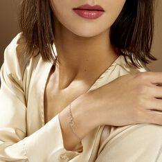 Bracelet Estina Argent Blanc - Bracelets chaînes Femme | Marc Orian