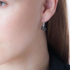 Boucles D'oreilles Pendantes Alena Argent Céramique Et Oxyde - Boucles d'oreilles Pendantes Femme | Marc Orian