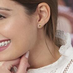 Boucles D'oreilles Puces Joude Argent Blanc Ambre - Clous d'oreilles Femme | Marc Orian