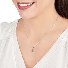 Collier Or Blanc Infini Et Diamants 42cm - Colliers Femme | Marc Orian