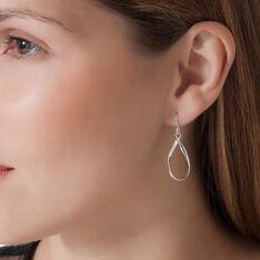 Boucles D'oreilles Pendantes Twista Argent Blanc - Boucles d'oreilles Pendantes Femme | Marc Orian
