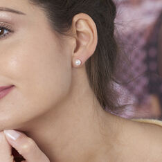 Boucles D'oreilles Puces Suki Or Jaune Perle De Culture - Clous d'oreilles Femme | Marc Orian