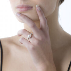 Bague Or Et Diamant - Bagues fiançailles Femme   Marc Orian