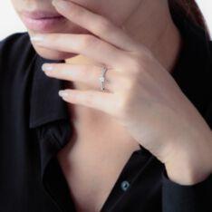 Bague Solitaire Flora Or Blanc Diamant - Bagues Solitaire Femme | Marc Orian