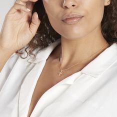Pendentif Canice Croix Or Jaune Oxyde De Zirconium - Pendentifs Femme | Marc Orian