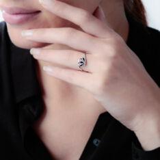Bague Petale Or Blanc Saphir Et Diamant - Bagues Femme | Marc Orian