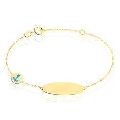 Bracelet Identité Fatirah Or Jaune - Gourmettes Enfant   Marc Orian