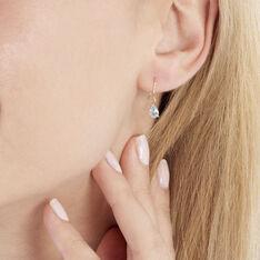 Boucles D'oreilles Or Jaune Kalyne Topaze - Boucles d'oreilles Pendantes Femme | Marc Orian
