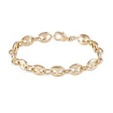 Bracelet Capucine Maille Grain De Cafe Plaque Or Jaune - Bracelets mailles Femme | Marc Orian