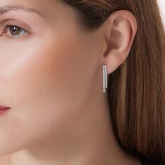 Boucles D'oreilles Pendantes Louann Argent Blanc Oxyde De Zirconium - Boucles d'oreilles Pendantes Femme | Marc Orian