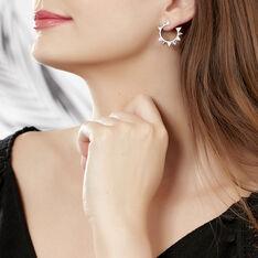 Bijoux D'oreilles Jonciaa Argent Blanc Oxyde De Zirconium - Boucles d'oreilles Ear cuffs Femme | Marc Orian