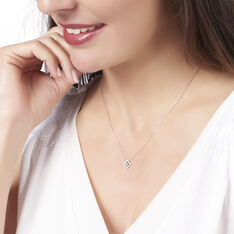 Collier Andreline Or Blanc Trefle - Colliers Femme | Marc Orian