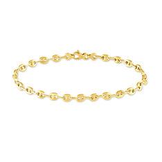 Bracelet Or Jaune Grain De Cafe - Bracelets mailles Femme | Marc Orian