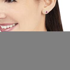 Boucles D'oreilles Puces Vladimir Or Jaune Diamant Et Rubis - Clous d'oreilles Femme | Marc Orian