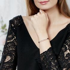 Bracelet Jonc Jessie Argent Rose Oxyde De Zirconium - Bracelets jonc Femme | Marc Orian