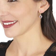 Boucles D'oreilles Pendantes Rosaline Or Jaune Amethyste Et Oxyde - Boucles d'oreilles Pendantes Femme | Marc Orian